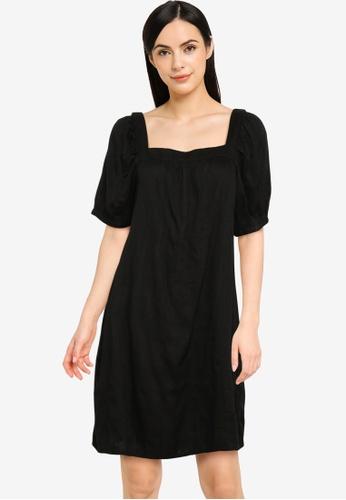 Old Navy black Square Neck Swing Mini Dress 9EB12AA852CBC1GS_1