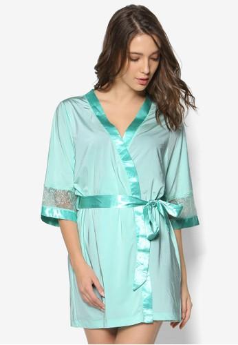 zalora 內衣Sharon's 蕾絲拼接睡裙, 服飾, 外套