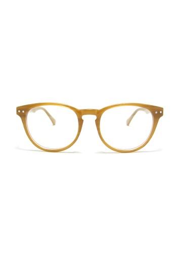 杏仁色眼鏡│梨形鏡框│5008-C4,esprit 台灣 飾品配件, 眼鏡