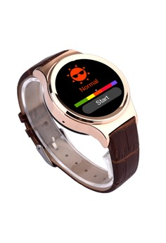 SIMAX S2 Gilded Smart Watch on leather strap - SIMAX-S2-GLD