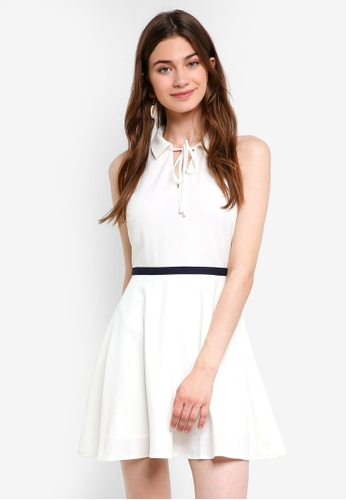 Something Borrowed white Relaxed Mini Collared Dress CDCC5AAA117EAAGS_1