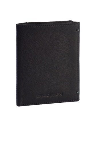 ENZODESIGN black Ultra Soft Cow Leather Slim Vertical Wallet With Zip Coin Compartment EN115AC91ZSUPH_1