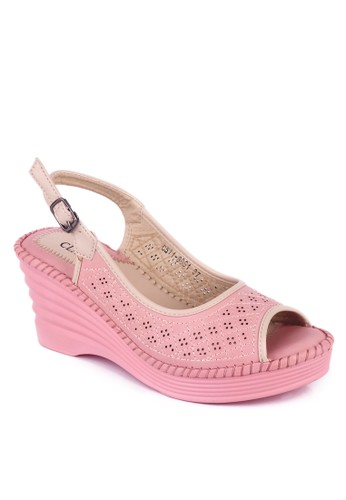 CLARETTE pink Clarette Wedges Colleen Pink CL076SH25MSWID_1