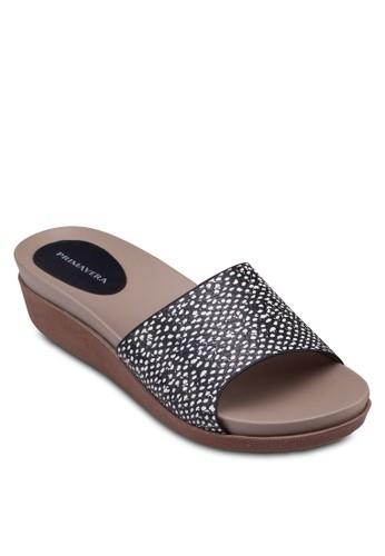 Stacey 寬帶厚底楔zalora 衣服尺寸型涼鞋, 女鞋, 楔形涼鞋