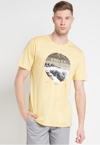 hurley yellow and multi Dusk T-Shirt 59B67AA9598E57GS_1