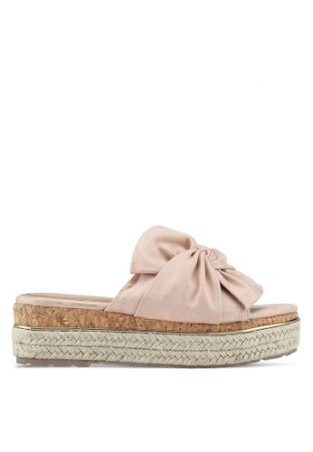 Carlton London pink Bow Platform Sandals 2CB80SHBDE0A43GS_1