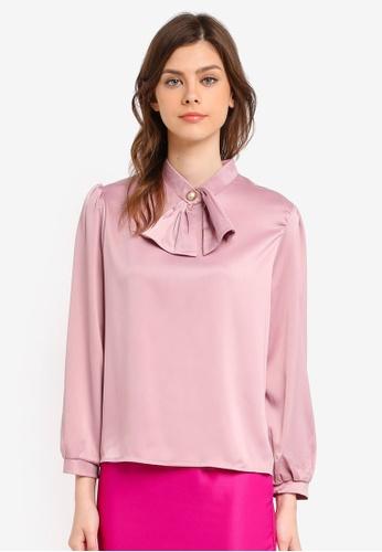 BYN pink Long Sleeve Top BY059AA0SWLBMY_1