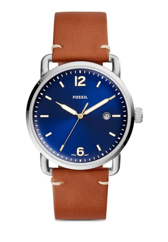 Fossil brown The Commuter 3H Date Leather Watch FS5325 FO164AC0RTGUMY_1