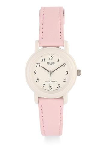 Casio pink Casio Jam Tangan Wanita - Pink White - Leather Strap - LQ-139L-4B1DF 52A07ACC2038FCGS_1