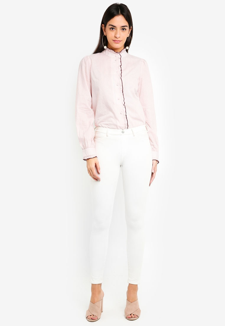 Snow White Vero Misty Rose Moda Claudia Shirt AWrAfF