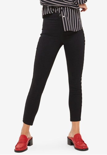 TOPSHOP black Petite Hook Eye Joni Jeans TO412AA0SBQIMY_1