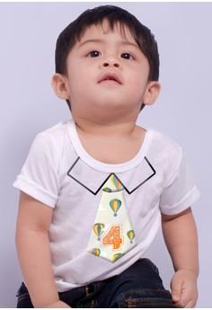 Monthly baby milestone - Cute necktie (4 Months)