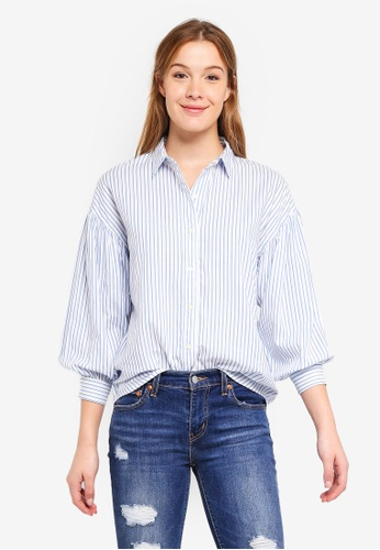 Levi's blue Ione Shirt 6C6ABAA6626724GS_1