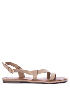 Penshoppe beige Synthetic Leather Sandals BE1A5SH284396FGS_1
