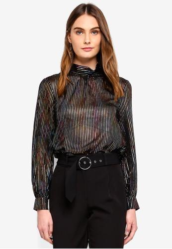 e5af7abb594e4 Buy WAREHOUSE Rainbow Foil High Neck Top Online on ZALORA Singapore