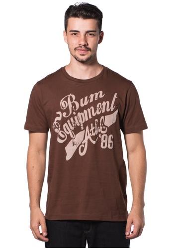 Bum Equipment brown B.U.M Equipment Men Round Neck Tee (MD. BROWN) BU054AA0RHCUMY_1