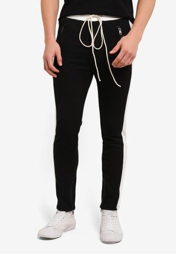 Flesh IMP 黑色 Pocket Zipper Yondu Jogger Pants FL064AA0S5U2MY_1
