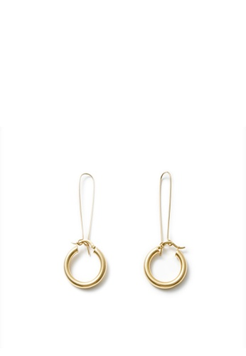 MONDAY EDITION silver and gold Simple Chunky Hoop Earrings 99FF8AC272A812GS_1