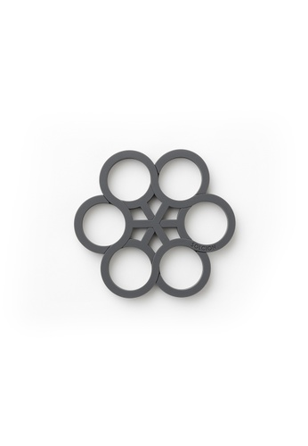 Solcion Ivy Tangle Pot Stand - interconnecting trivet set (Ash) 59E32HL3B2BC14GS_1