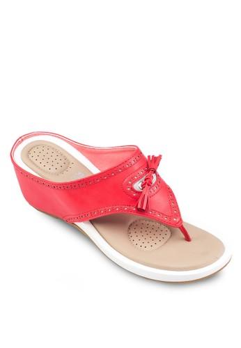 Alanis 雕花楔esprit 香港形涼鞋, 女鞋, 鞋