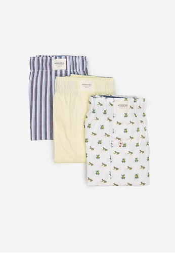 Springfield multi 3-Pack Surfers Woven Boxers 73C6BUS97EA87CGS_1