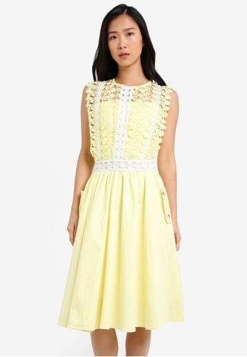 Megane yellow Alair Dress ME617AA0S0UQMY_1
