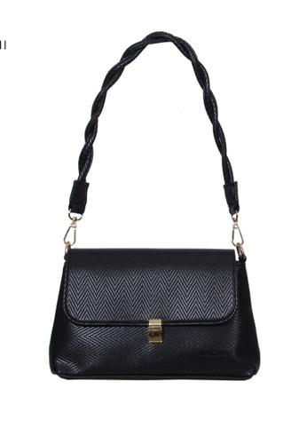 Verchini black Verchini Twist Top Handle Bag 865E4ACBB78C51GS_1