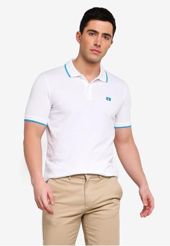 Jack & Jones white Jjestone Slim Fit Polo Shirt 0C496AA2B472E6GS_1