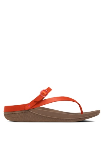 Fitflop orange Flip Leather Sandals FI522SH62SYBMY_1