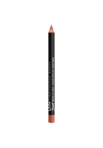 NYX Professional Makeup brown NYX Professional Makeup Suede Matte Lip Liner - SMLL  51 - ROSÉ THE DAY 3978DBE9BC1C5FGS_1