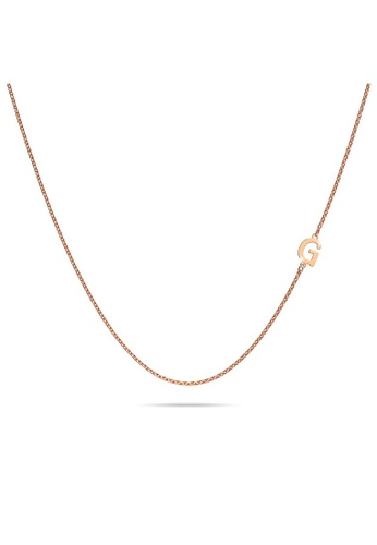 Bullion Gold gold BULLION GOLD Bold Alphabet Letter Initial Charm Necklace in Rose Gold Tone G AA540AC158D20BGS_1