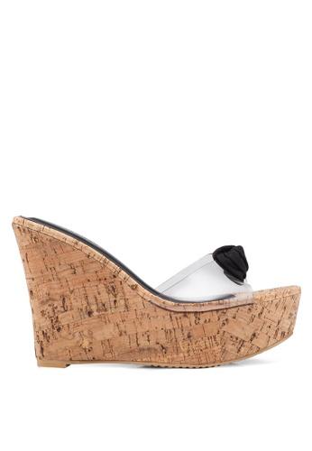 af064f30be0 Buy Heatwave Knot Wedge Sandals Online on ZALORA Singapore