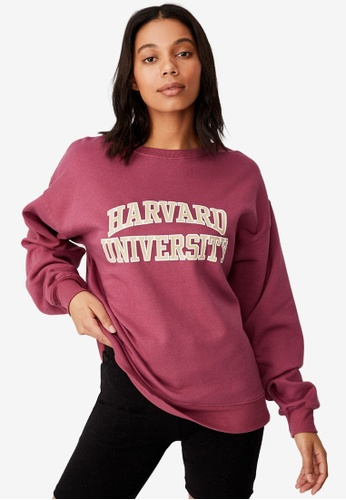 Cotton On pink Collab Classic Crew Neck Sweatshirt E5781AA98BCE2AGS_1