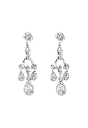 Carlton London white Chandelier Earrings FDE19AC650F0D6GS_1