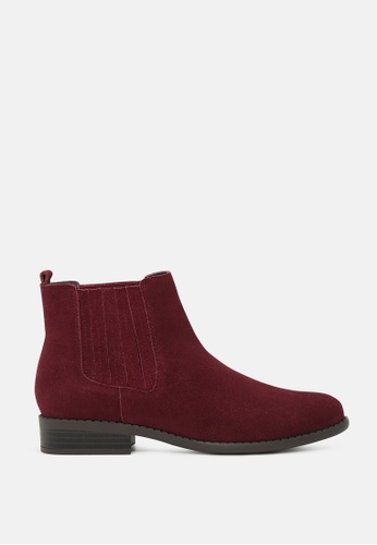 RAG & CO red Slip on Chelsea Boots RCSH1785 924A7SH5679E5FGS_1
