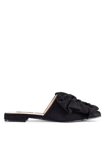 ZALORA 黑色 Knot 拖鞋 ABF80ZZ6B80676GS_1