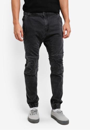 Cotton On 灰色 Slim Denim Joggers 00F48AAA92DBB9GS_1