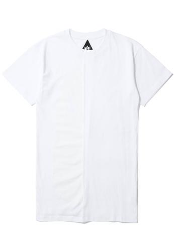 Mini cream white Spliced tonal graphic tee E4B65AA01AF49AGS_1