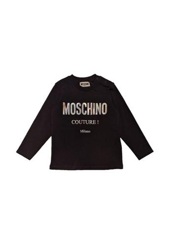 MOSCHINO BABY KID TEEN black MOSCHINO BABY LONG SLEEVE T-SHIRT A51F9KA4DA5A82GS_1