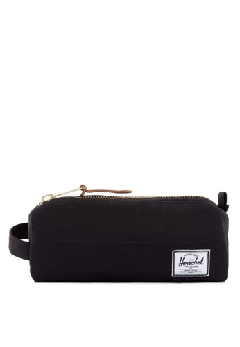 Herschel black Settlement Pencil Case HE305AC19YHSSG_1