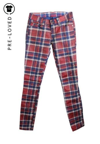 Ksubi red Pre-Loved ksubi Checked Waxed Pants B3C81AAAC3B92DGS_1
