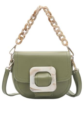 PLAYBOY BUNNY green Tortoiseshell Shoulder Bag B9D3CAC090CC71GS_1