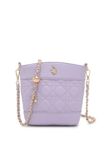 Swiss Polo purple Ladies Chain Sling Bag 5E153ACFBDA8ECGS_1