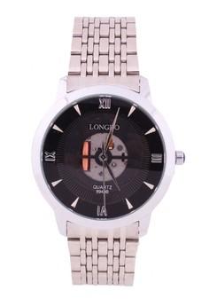 Brett Skeleton Steel Watch
