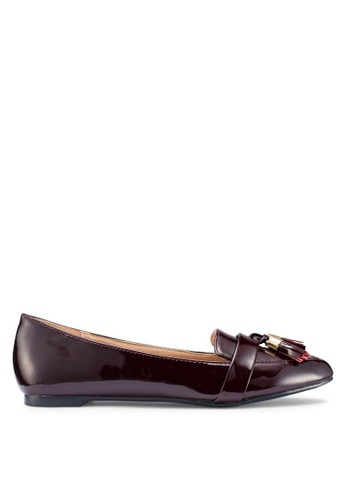Carlton London 紅色 Tassle Loafers 402B5SHF530E61GS_1
