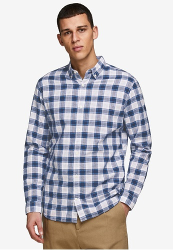 JACK & JONES white Summer Button-Down Shirt 2E662AA61CB9A6GS_1