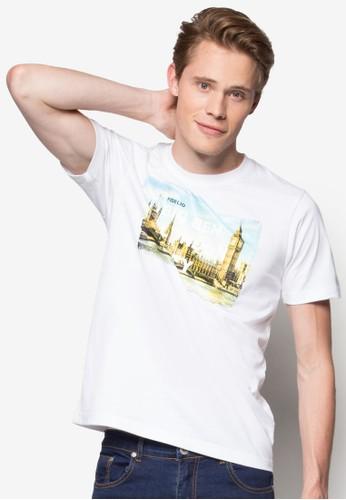 倫敦城市大笨鐘圖案T 恤, 服飾,zalora 衣服尺寸 T恤