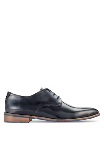 三眼繫帶zalora 折扣碼雕花方頭皮鞋, 鞋, 鞋
