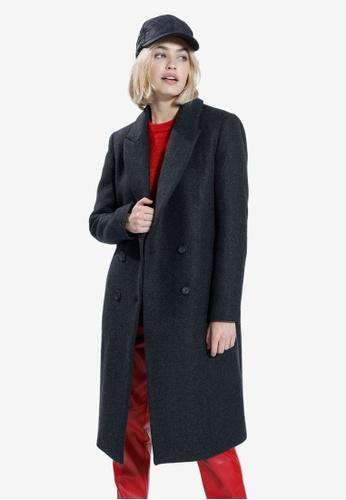 PIMKIE black Long Sleeve Coat 67198AA25CDDEBGS_1