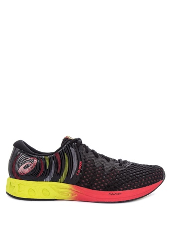 Asics black and multi Noosa FF Sneakers 895EBSHA93CD03GS_1